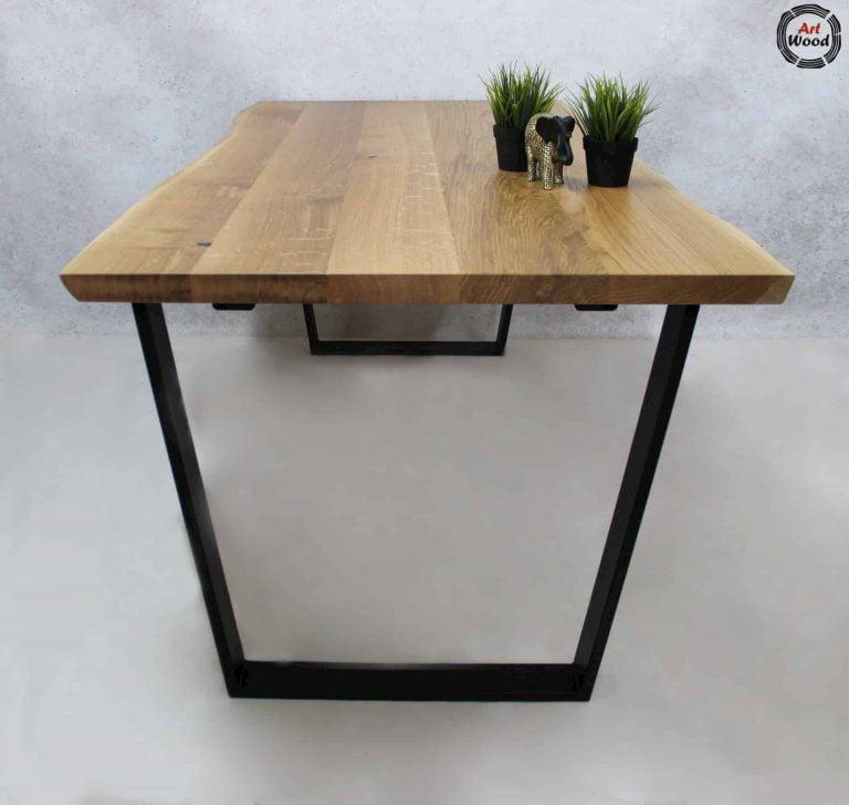 Stół z podstawą trapez